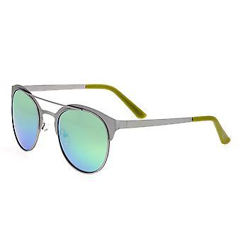Rasse-Phoenix-Titanium polarisiert Sonnenbrille - Silber/Blau Grün