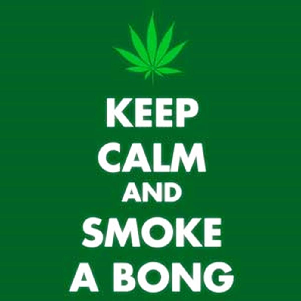 Keep Calm And Smoke A Bong steel fridge magnet (cv)