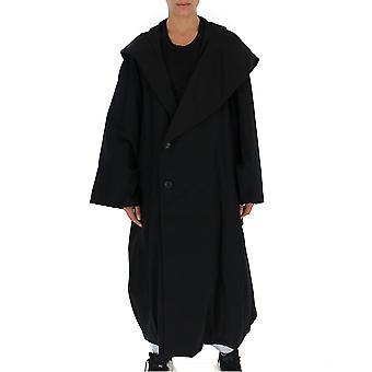 Yohji Yamamoto Black Wool Coat