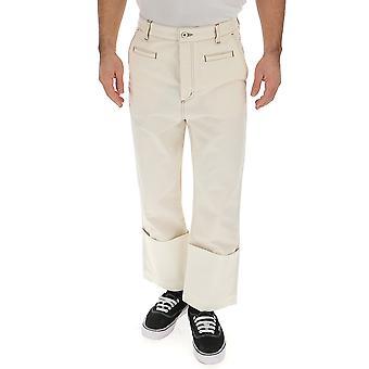 Loewe White Cotton Pants