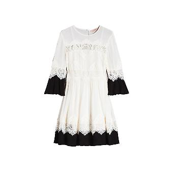 Twin-set White/black Viscose Dress