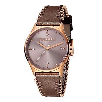 Esprit ES1L032L0045 Drops 01 Pink Dark Brown Women's Watch