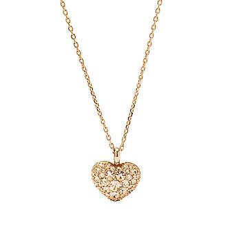 Fossil ladies chain necklace stainless steel Rosé Herz JF01156791