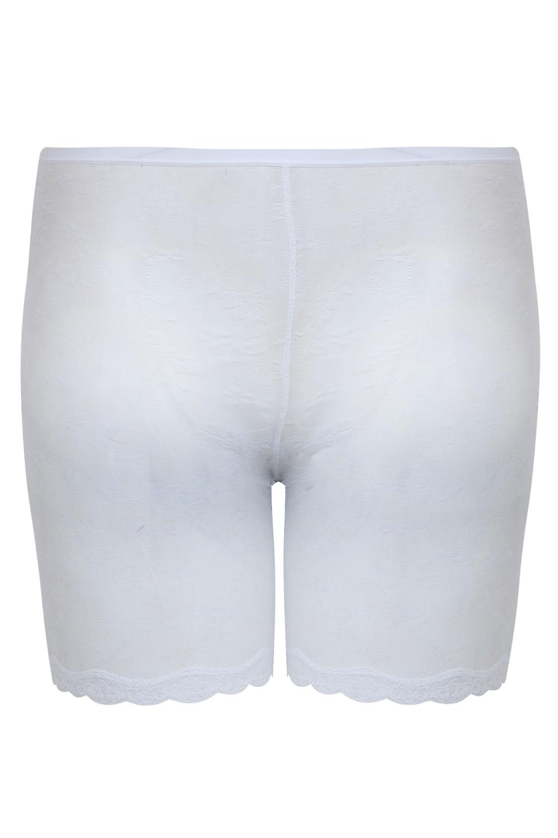 White Lace Mesh Thigh Slimmer
