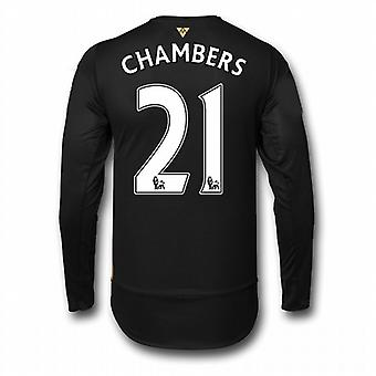 2015-16 Arsenal 3rd Cup Long Sleeve Shirt (Chambers 21) - Kids