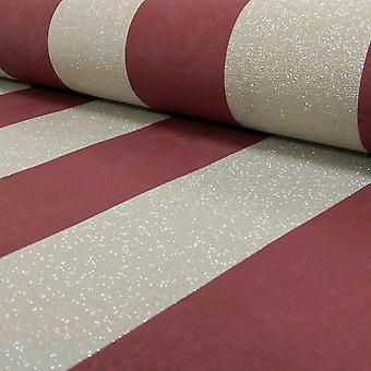 Stripe Red Gold Glitter Wallpaper Stripes Metallic Textured Paste The Wall P+S