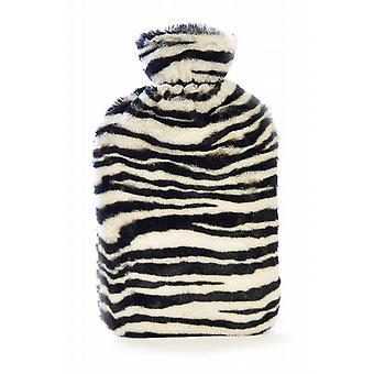 Zebra Stripes Plush Faux Fur Hot Water Bottle
