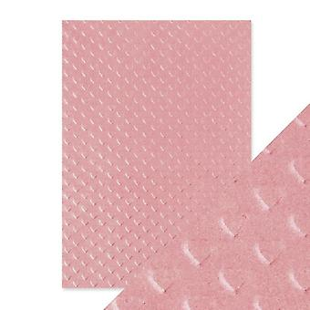 Craft Perfect av tonic Studios handgjorda bomulls papper Blush Heart | Förpackning om 5