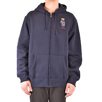 Ralph Lauren Blue Cotton Sweatshirt