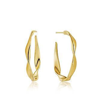 Ania Haie Gold Plated Sterling Silver 'Twist' Hoop Earrings