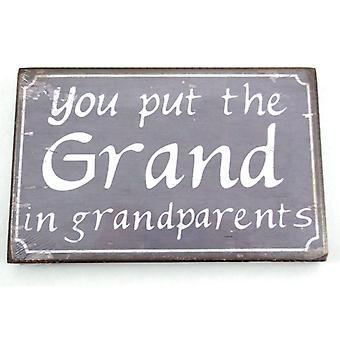 Grandparents Message Plaque