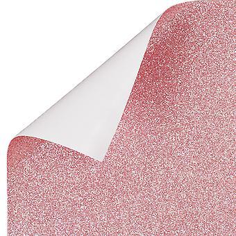 TRIXES Pink Glitter Vinyl Sheet Permanent Wallpaper 1350mm x 440mm Roll