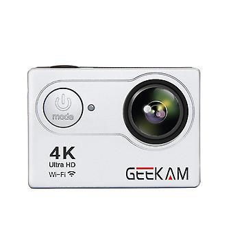 Geekam4k h9r 1080p acción deporte videocámara al aire libre cámara 4k mini movimiento submarino dv hd wifi cámara digital plata