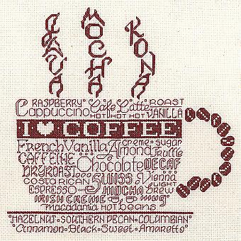 Let's Do Coffee Counted Cross Stitch Kit-8.75