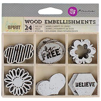Free Spirit Laser Cut Wood Icons In A Box 24 Pieces 6 Styles Of Embellishments 572914