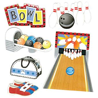 Jolee's Boutique Dimensional Stickers Bowling Alley E5020228