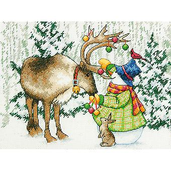 Ornamental Reindeer Counted Cross Stitch Kit-12