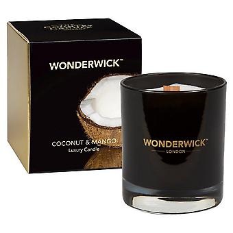 Wonderwick Noir Candle in a Glass - Coconut & Mango
