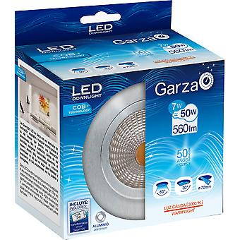 Garza Led Downlight COB 7W 560lm 60 30K Aluminum