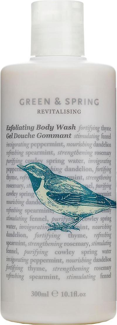 Green & Spring Revitalising Exfoliating Body Wash