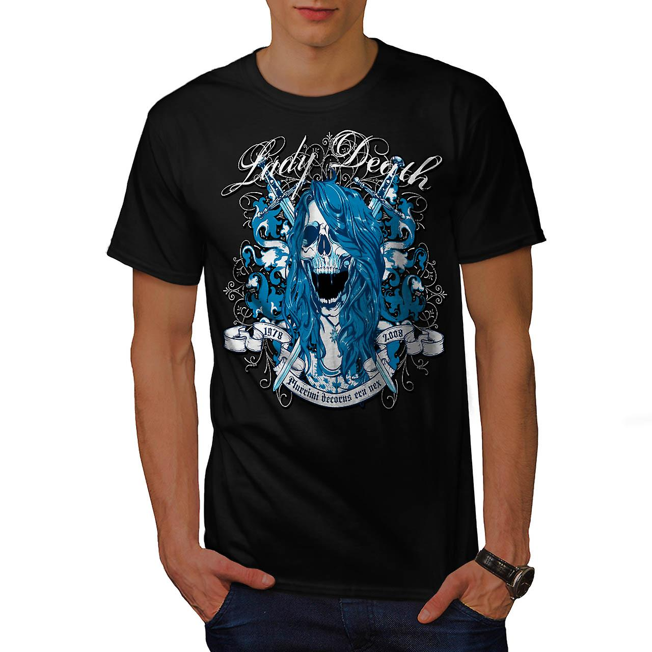 Lady död Monster skräck Ghost män svart T-shirt | Wellcoda
