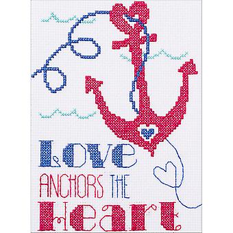 My 1st Stitch Love Anchors Mini Counted Cross Stitch Kit-5