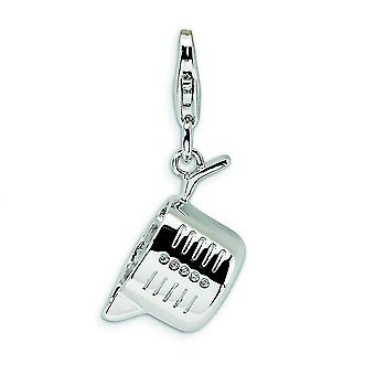 Sterling Silver Polished Measuring Cup With Lobster Clasp Charm - 3.3 Grams - Measures 28x13mm