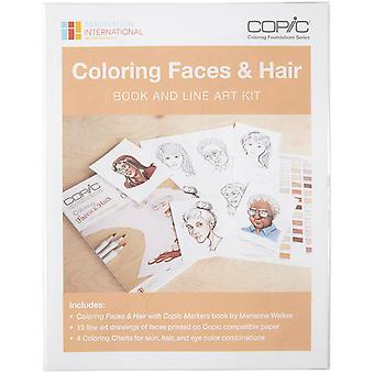 Copic Coloring Faces Book & Line Art Kit- CBFACEKT