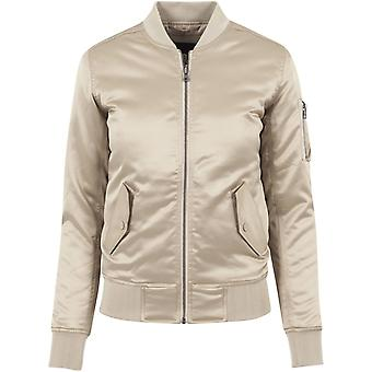 Urban classics ladies - SATIN BOMBER jacket gold