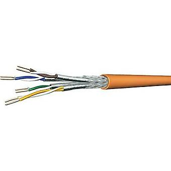 Network cable CAT 7 SF/UTP 4 x 2 x 0.25 mm² Orange DRAKA 1001032-00250BR Sold per metre
