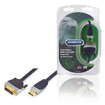 Bandridge Digital Video Cable Hdmi To Dvi High Performance 3.0 M