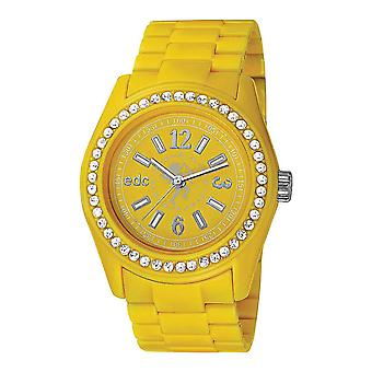 EDC by ESPRIT watch wrist watch ladies Discoglam happy yellow EE900172004