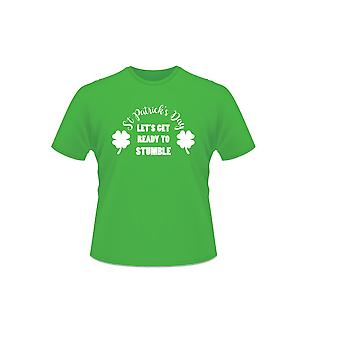 Green St Patrick's Day 100% Cotton Let's Get Ready To Stumble T-Shirt