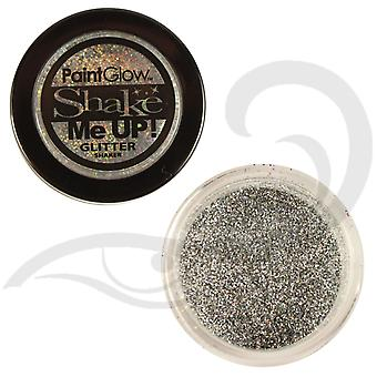 PaintGlow Glitter Shaker Holographic Silver & Fixative Gel