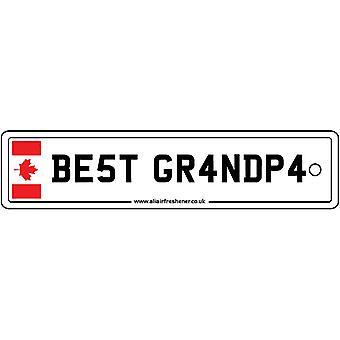 Canadá - mejor abuelo licencia placa ambientador