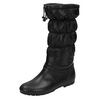 Womens tache sur jambe Slouch bottes