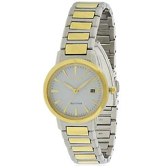 Citizen Eco-Drive Silhouette Two-Tone Ladies Watch EW2374-56A