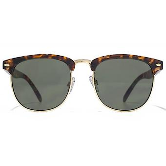 American Freshman Plastic & Metal Combination Sunglasses In Tortoiseshell Gold
