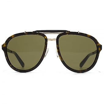 Marc Jacobs Brow Bar Aviator Sunglasses In Havana Gold