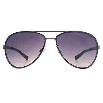 SUUNA Athens Claw Detail Aviator Sunglasses In Matte Gunmetal
