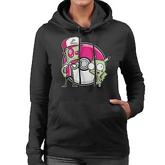 PoGIRmon Invader Zim Pokemon Women's Hooded Sweatshirt
