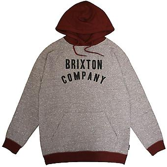 Brixton Barstow Pullover Hoodie grå Bourgogne