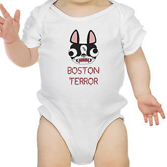 Boston Terror Terrier Funny Halloween Baby Bodysuit Cotton Baby Gifts