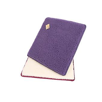 Chair cushions seat cushion square Purple 2-Pack 37 x 40 cm