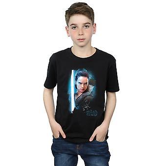Star Wars garçons la dernière Jedi Rey brossé T-Shirt