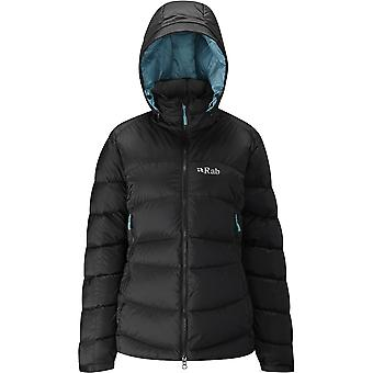 Rab Womens Ascent Jacket Black/Seaglass (UK Size 14)