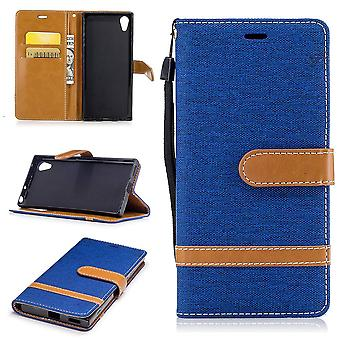 Bag for Sony Xperia XA1 jeans cover cell phone protective case case Blue