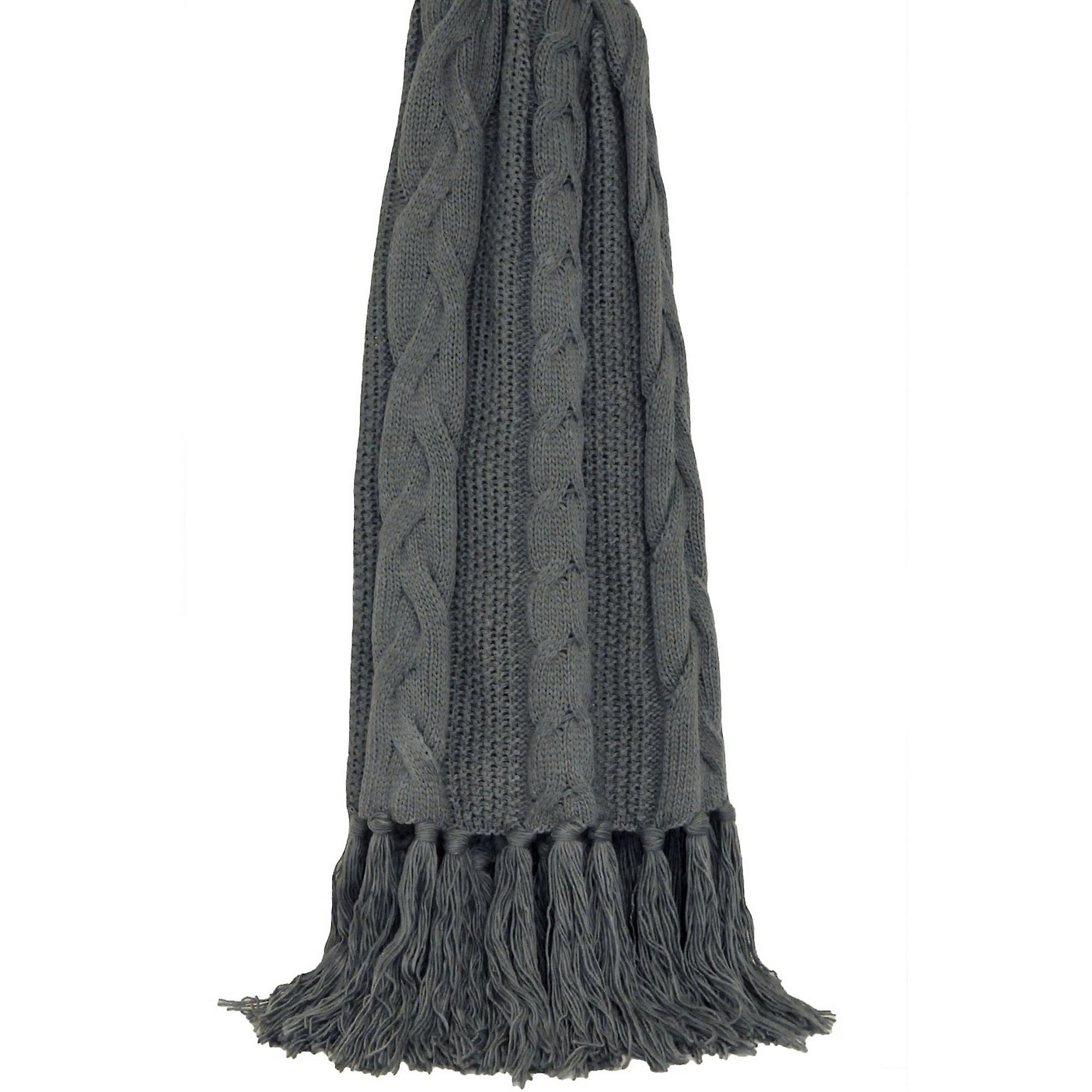 Riva Tassle Santana Throw Knitted Home 2IWHED9