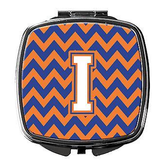 Brev jeg Chevron blå og Orange #3 kompakt spejl