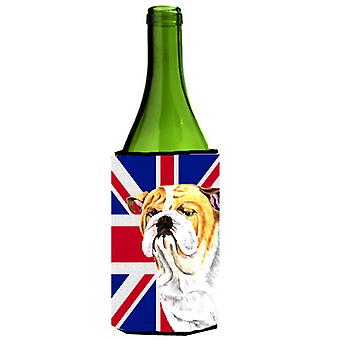 Bulldog Engels met Engelse Union Jack Britse vlag wijn fles drank Insula